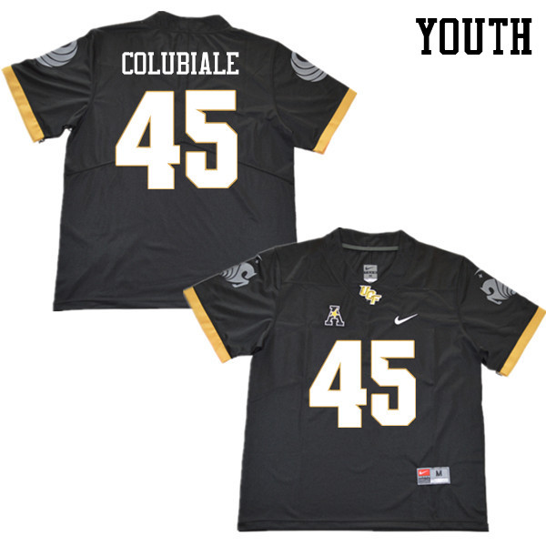 Youth #45 Jason Colubiale UCF Knights College Football Jerseys Sale-Black